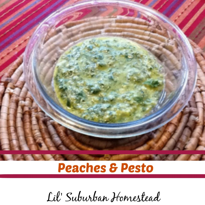 Peaches and Pesto