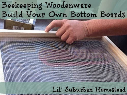 build your own woodenware bottom boards for your bees