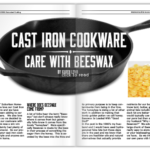 from scratch magazine cast iron cookware care with beeswax
