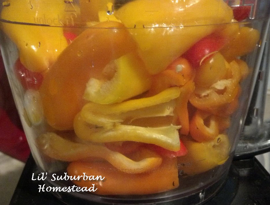 peppers in food processor