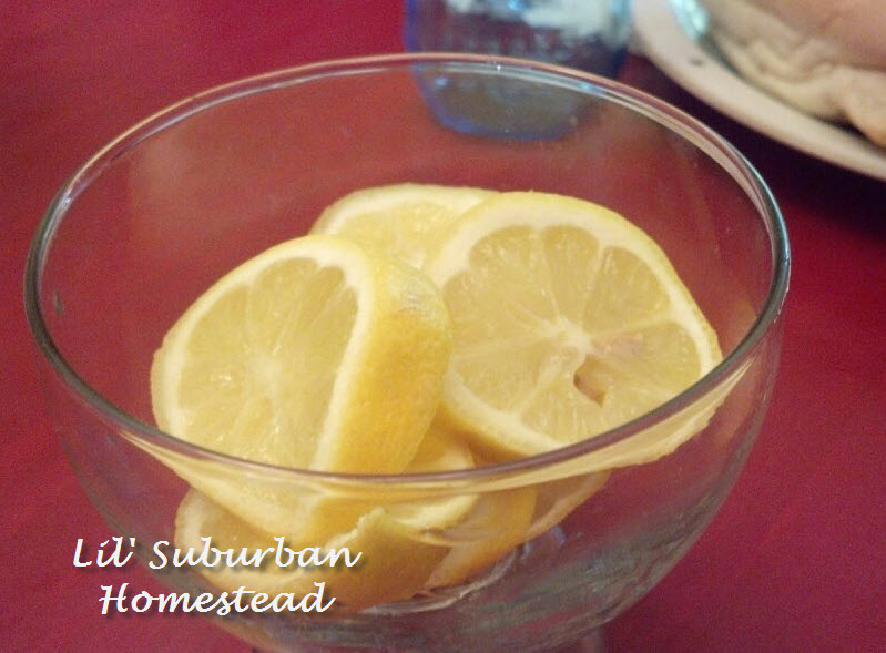 lemons for our ice water