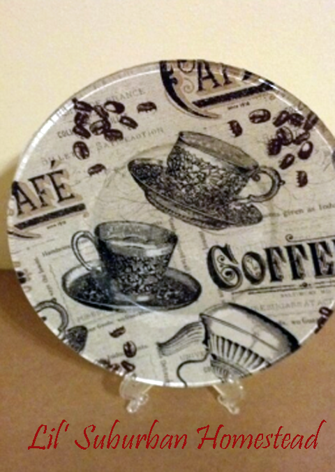 The Coffee Lover plate