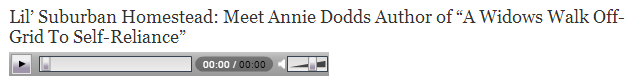 interview with Annie Dodds by Lil' Suburban Homestead with karen Lynn