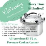 All American Canner Giveaway Green Value