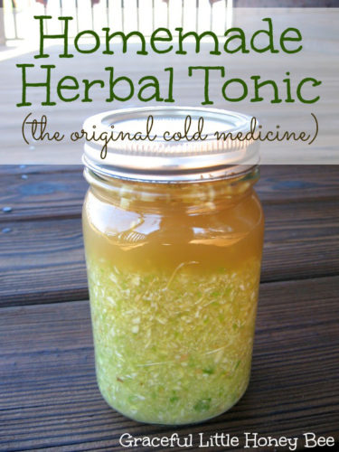 homemade herbal tonic