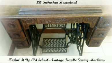 lilsuburbanhomestead vintage treadlesewingmachines