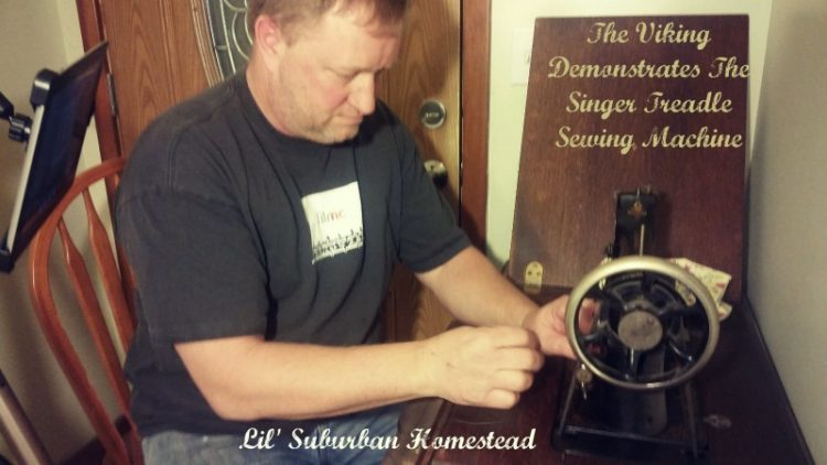 the viking demonstrates both treadle sewing machines lilsuburbanhomestead