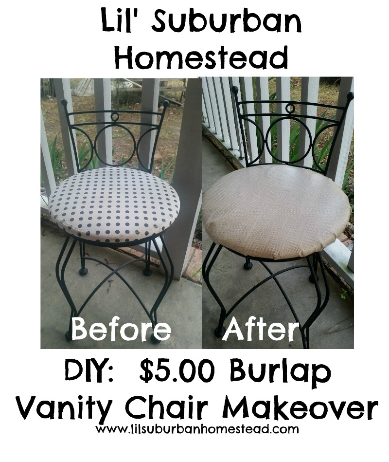 lil suburban homestead vanity chair makeover