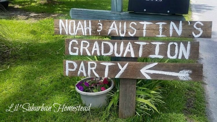 graduation sign with boards lil suburban homestead