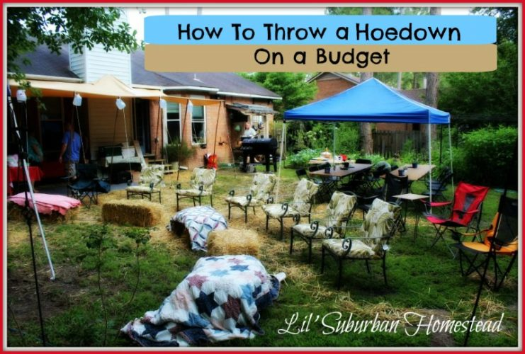 how to throw a hoedown on a budget