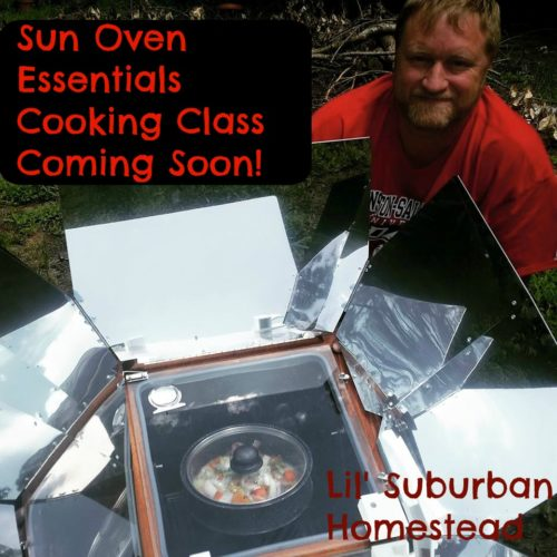 sun oven essentials cooking class