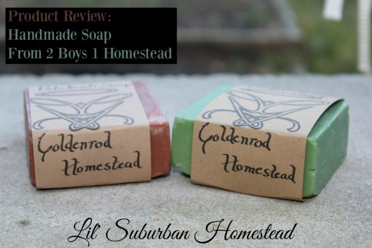 soap review by 2 boys 1 homestead, soaps