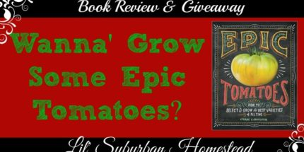 karen lynn features the book Epic tomatoes as a book review and giveaway