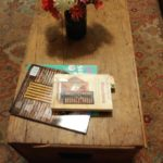 Zinnia's from my friend Katherine gracing my coffee table.