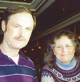 ron with his wife Johanna