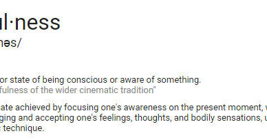 mindful according to Google
