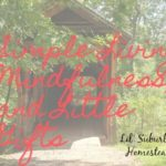 Simple Living, Mindfulness, and Little Gifts