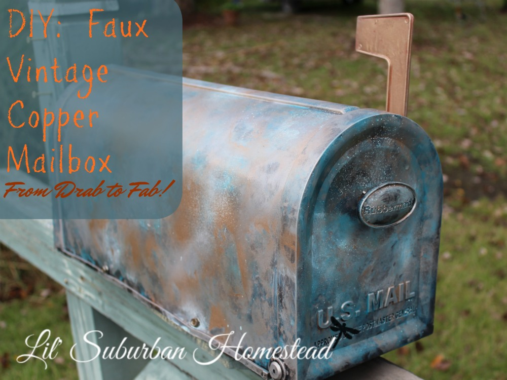DIY Faux Vintage Copper Mailbox