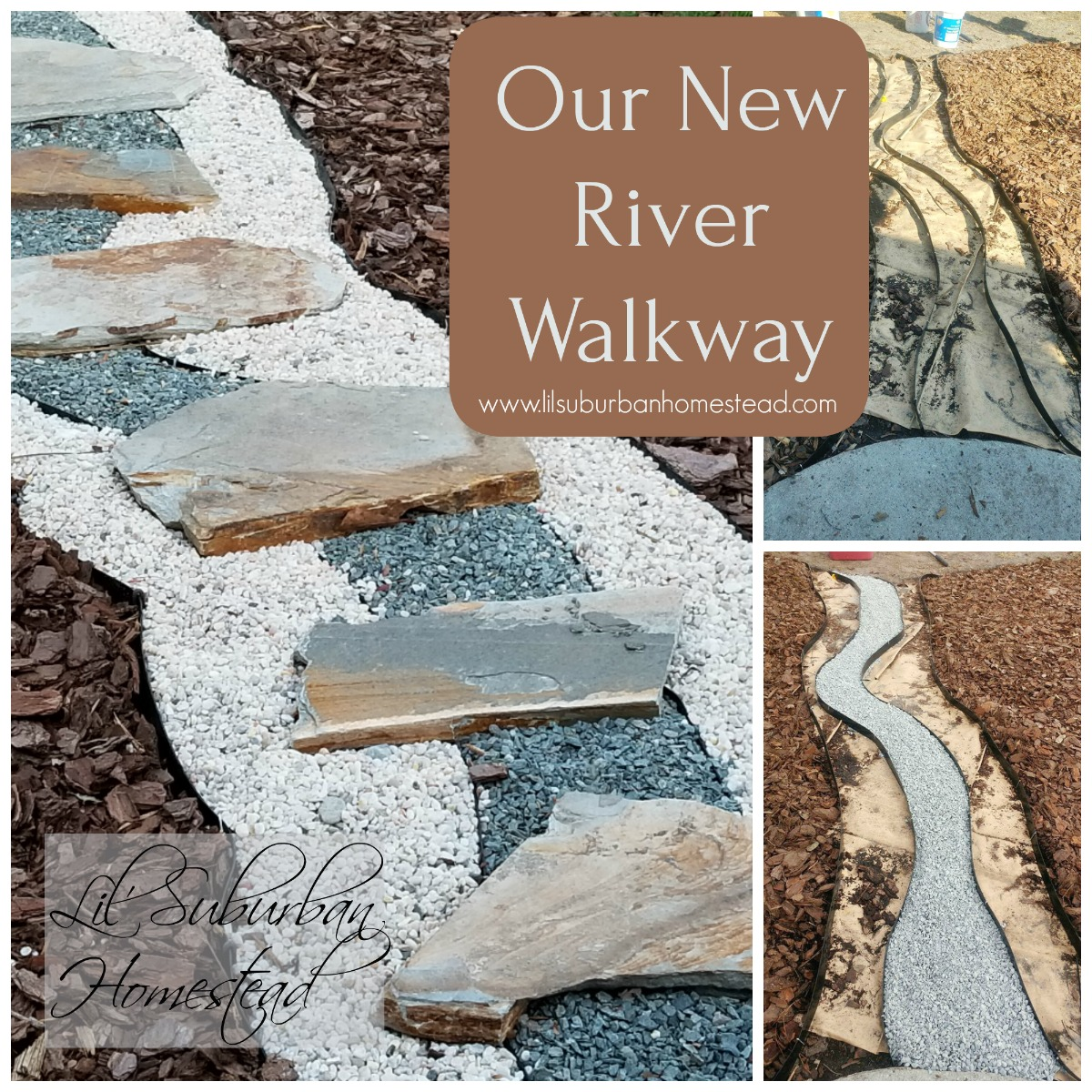 our new river walkway