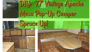 DIY 77' Apache Mesa Pop-Up Camper Spruce Up!